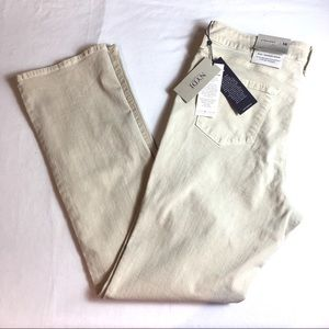 NYDJ Marilyn Straight Jeans Feather Beige Sz 16